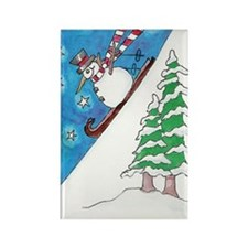 From Original ATC Downhill Snowman Magnet