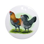 Easter Egg Chickens Ornament (Round)