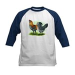 Easter Egg Chickens Kids Baseball Jersey