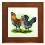 Easter Egg Chickens Framed Tile