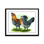 Easter Egg Chickens Framed Panel Print