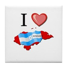 I Love Honduras Tile Coaster