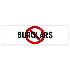 Anti burglars Bumper Bumper Sticker