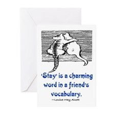 STAY IS A CHARMING WORD Greeting Cards (Pk of 20)