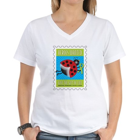 Donor Bug Too Women's V-Neck T-Shirt
