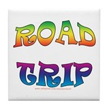 road trip Tile Coaster