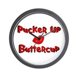 RK Pucker Up Buttercup Wall Clock