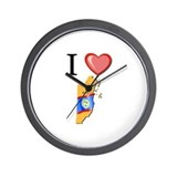 I Love Belize Wall Clock