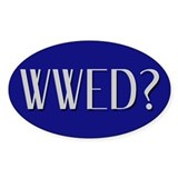 WWED? Oval Bumper Stickers
