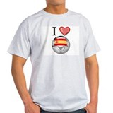 I Love Spain Football T-Shirt