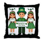 Happy St. Patrick's Day (Gaelic) Throw Pillow