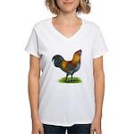 Easter Egg Rooster Women's V-Neck T-Shirt