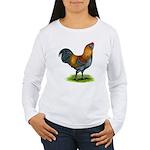 Easter Egg Rooster Women's Long Sleeve T-Shirt