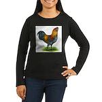 Easter Egg Rooster Women's Long Sleeve Dark T-Shir