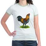 Easter Egg Rooster Jr. Ringer T-Shirt