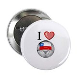 "I Love Chile Football 2.25"" Button (10 pack)"