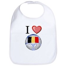 I Love Belgian Football Bib
