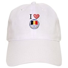 I Love Belgian Football Baseball Cap