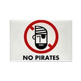 Cute I hate pirates Rectangle Magnet