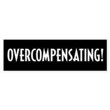 Overcompensating Bumper Car Sticker