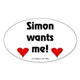 Idol Simon Wants Me Oval Decal
