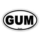 Guam GUM Euro Style Oval Decal