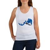 Slalom Water Skier Women's Tank Top