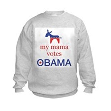Mama Votes Obama Sweatshirt