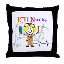 ICU Nurse Throw Pillow