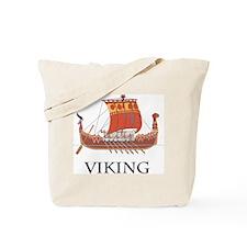 Viking Warship Tote Bag