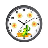 Iguana in the Desert Wall Clock