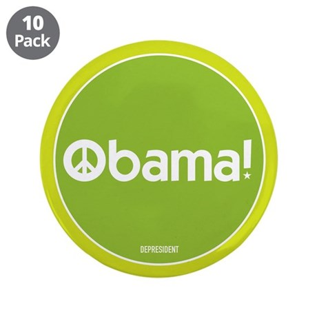 "Obama for Peace 3.5"" Button (10 pack)"
