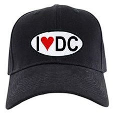 I Love DC Oval Baseball Hat