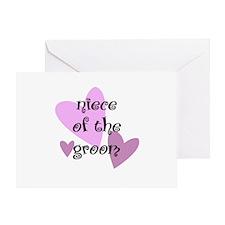 Niece of the Groom Greeting Card