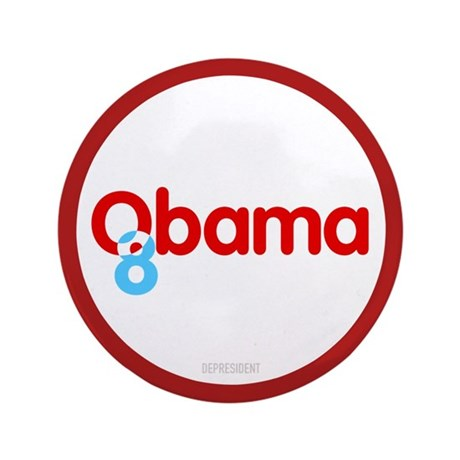 "Vote Obama 08 3.5"" Button (100 pack)"