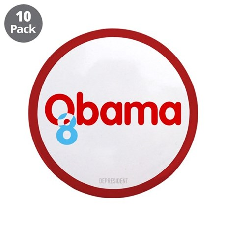 "Vote Obama 08 3.5"" Button (10 pack)"