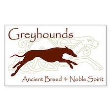 Celtic/Modern Greyhound Rectangle Decal