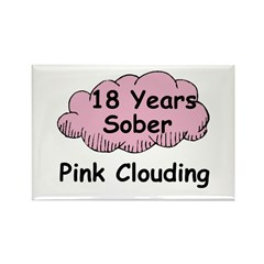 Pink Cloud 18 Rectangle Magnet