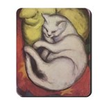 Sleeping Cat Painting - Mousepad