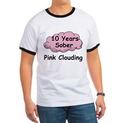Pink Cloud 10 Ringer T