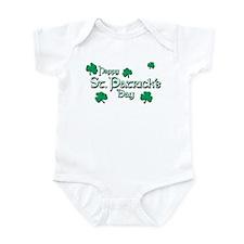 Happy St. Patrick's Day Green Shamrocks Infant Bod