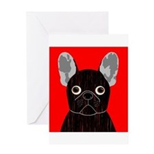 Frenchy (Dark Brindle) Greeting Card