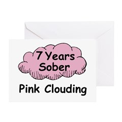 Pink Cloud 7 Greeting Card