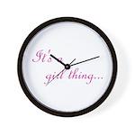 Girl Thing Wall Clock