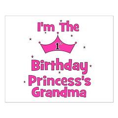 1st Birthday Princess's Grand Posters