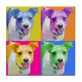 Chichi the Jack Russell Tile Coaster