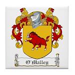 O'Malley Family Crest Tile Coaster
