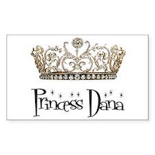 Princess Dana Rectangle Decal