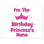 1st Birthday Princess's Nana! Small Poster
