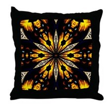 Tribal Abstract Throw Pillow